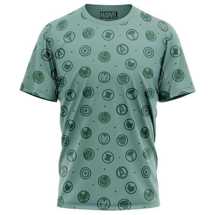 Avengers Icons Pattern - Marvel Official T-shirt