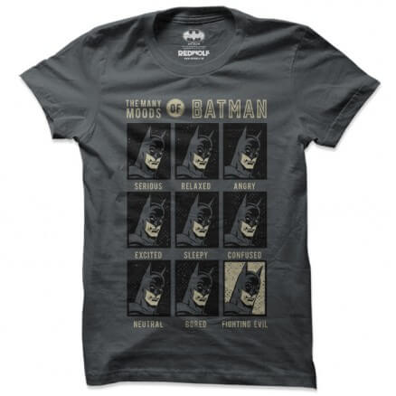 Moods Of Batman - Batman Official T-shirt