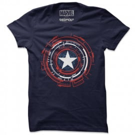 Captain America: Mechanical Shield - Marvel Official T-shirt