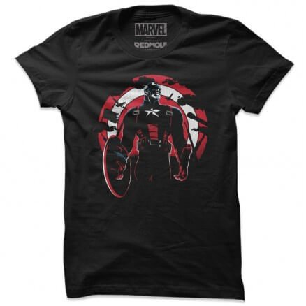 Captain America Silhouette - Marvel Official T-shirt