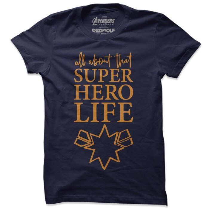 Captain Marvel: Superhero Life - Marvel Official T-shirt