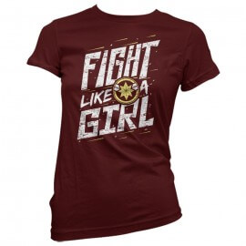 Fight Like A Girl - Marvel Official T-shirt