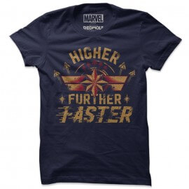 Captain Marvel: Higher Further Faster - Marvel Official T-Shirt