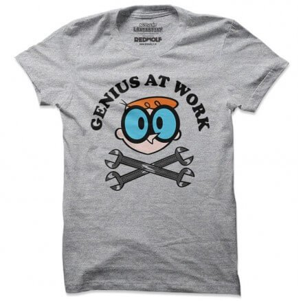 Genius At Work - Dexter's Laboratory Official T-shirt