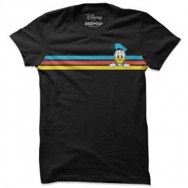 Donald Duck: Retro Stripes - Disney Official T-shirt