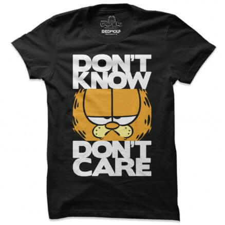 Don't Know, Don't Care - Garfield Official T-shirt