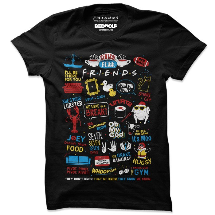 F.R.I.E.N.D.S Infographic - Friends Official T-shirt
