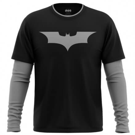 The Dark Knight Logo - Batman Official Full Sleeve T-shirt