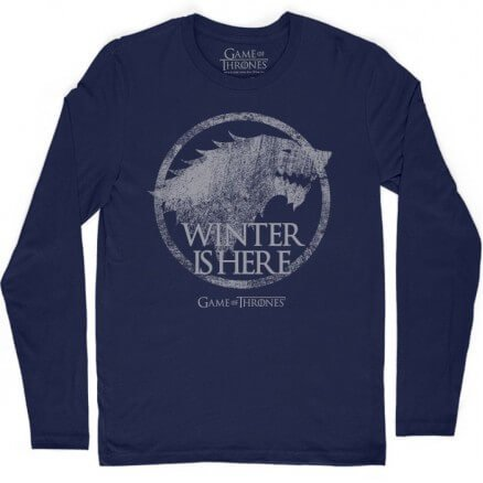 Winter Is Here - Game Of Thrones Official Full Sleeve T-shirt