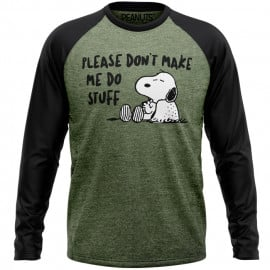 Don't Make Me Do Stuff - Peanuts Official Full Sleeve T-shirt