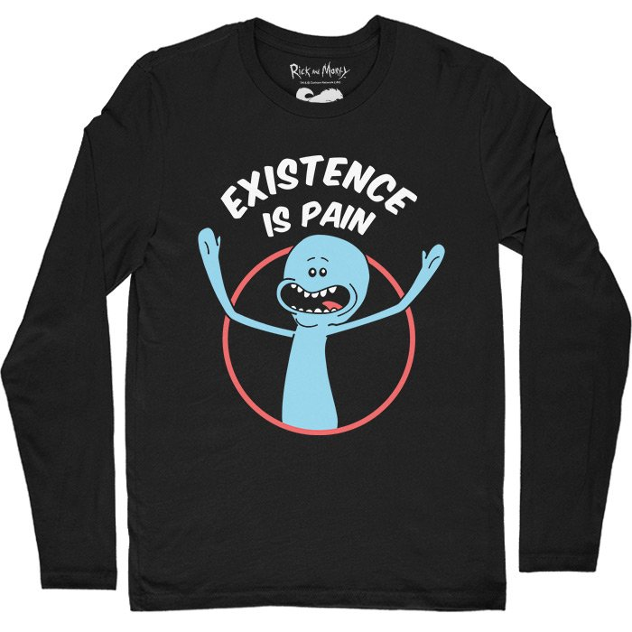 Mr. Meeseeks: Existence Is Pain - Rick And Morty Official Full Sleeve T-shirt