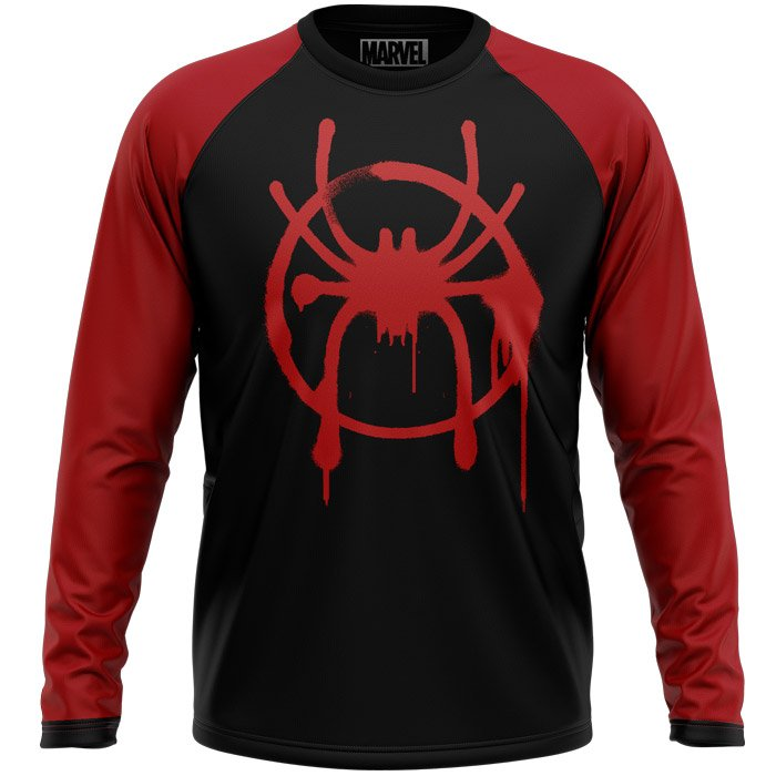 Spider-Verse: Miles Morales Logo - Marvel Official Full sleeve T-shirt