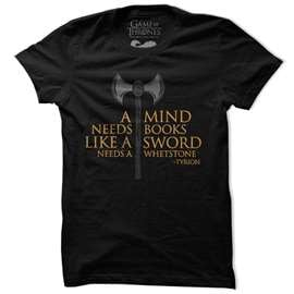 A Mind Needs Books - Game Of Thrones Official T-shirt