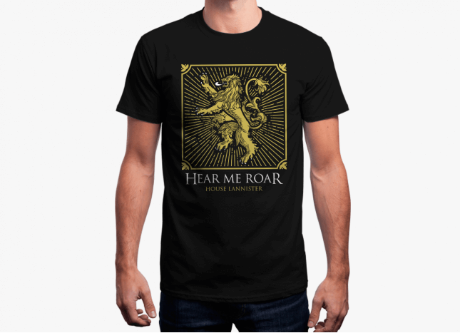 House Lannister Shield - Game Of Thrones Official T-shirt