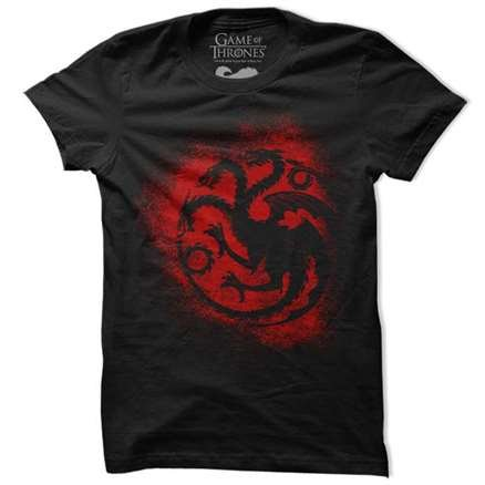 House Targaryen Sigil Splatter - Game Of Thrones Official T-shirt