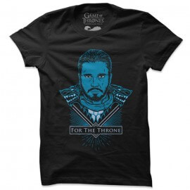 Jon Snow: For The Throne - Game Of Thrones Official T-shirt