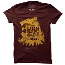 The Lion And The Sheep - Game Of Thrones Official T-shirt