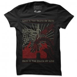 Love And Duty  - Game Of Thrones Official T-shirt