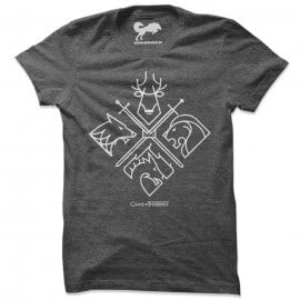 Minimal Houses  - Game Of Thrones Official T-shirt