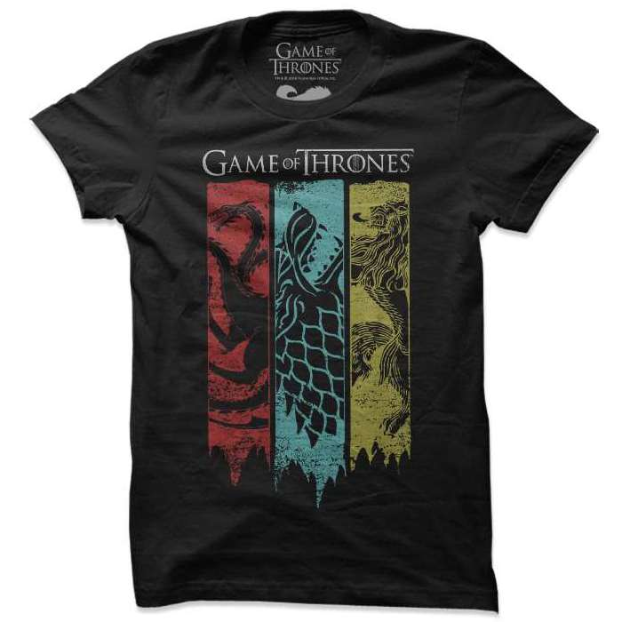 Sigil Banner - Game Of Thrones Official T-shirt