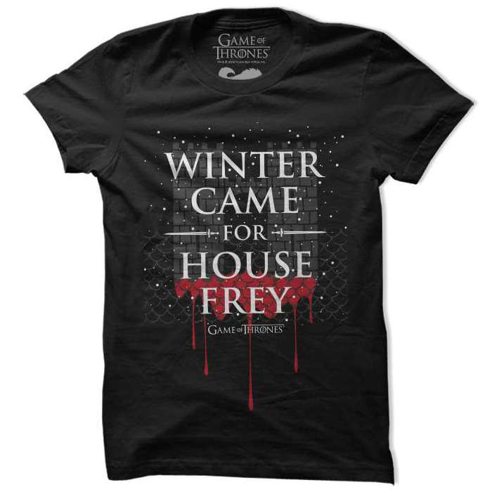 Winter Came For House Frey - Game Of Thrones Official T-shirt