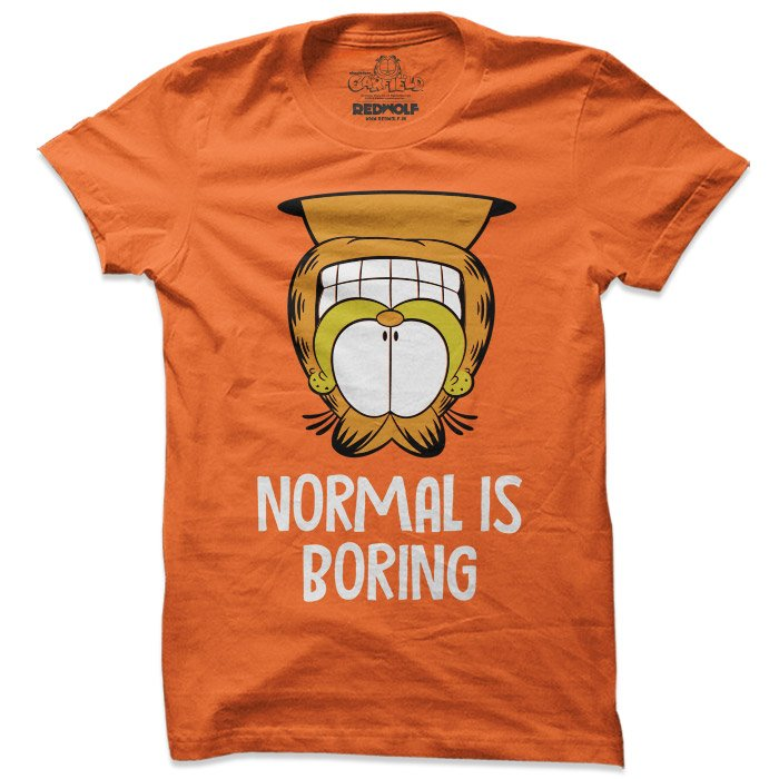 Normal Is Boring - Garfield Official T-shirt