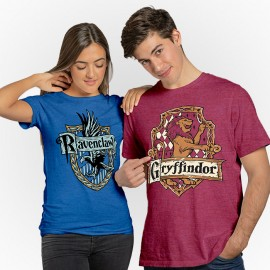 Couple Tees: Ravenclaw Crest & Gryffindor Crest - Harry Potter Official T-shirts