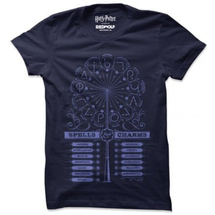 Spells And Charms - Harry Potter Official T-shirt