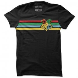 Hogwarts: Retro Stripes - Harry Potter Official T-shirt