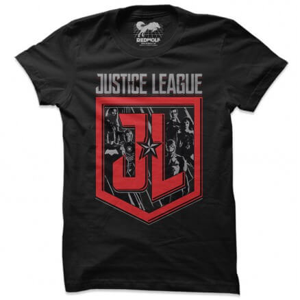 JL Badge - Justice League Official T-shirt