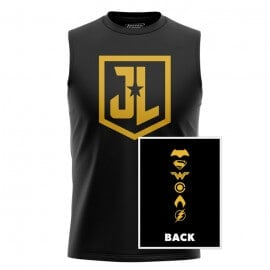 JL Character Logos - Justice League Official Sleeveless T-shirt