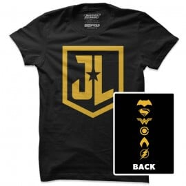 JL Character Logos - Justice League Official T-shirt