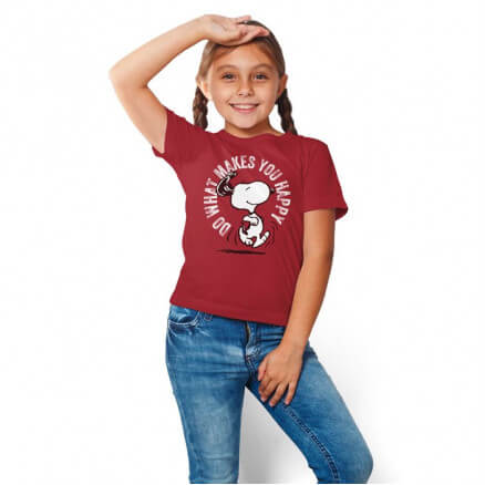 Do What Makes You Happy - Peanuts Official Kids T-shirt