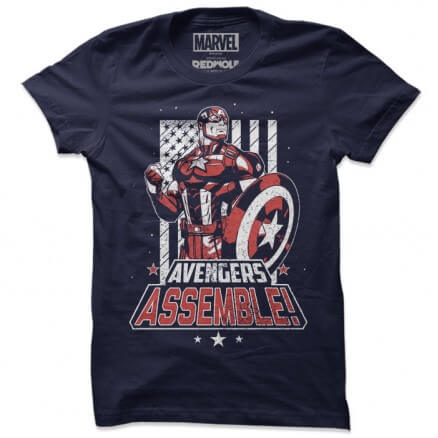Captain America: Avengers Assemble - Marvel Official T-shirt