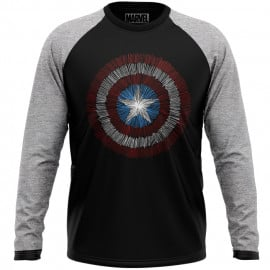 Captain America: Shield - Marvel Official Full sleeve T-shirt