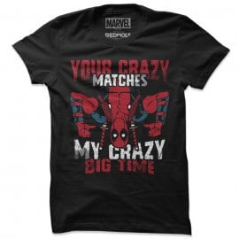 Your Crazy Matches My Crazy - Marvel Official T-shirt