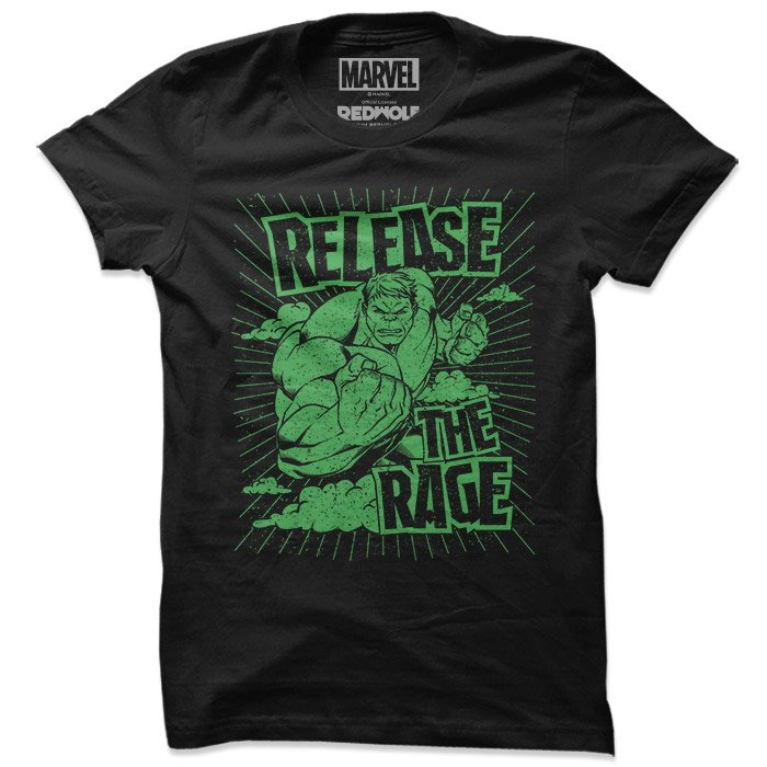 Release The Rage - Marvel Official T-shirt