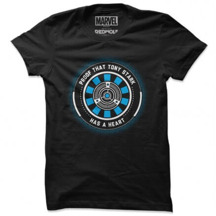 Tony Stark's Heart - Marvel Official T-shirt