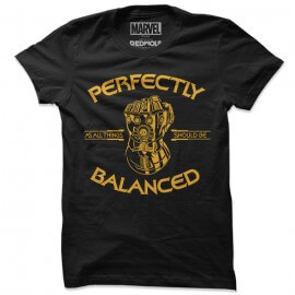 Perfectly Balanced - Marvel Official T-shirt