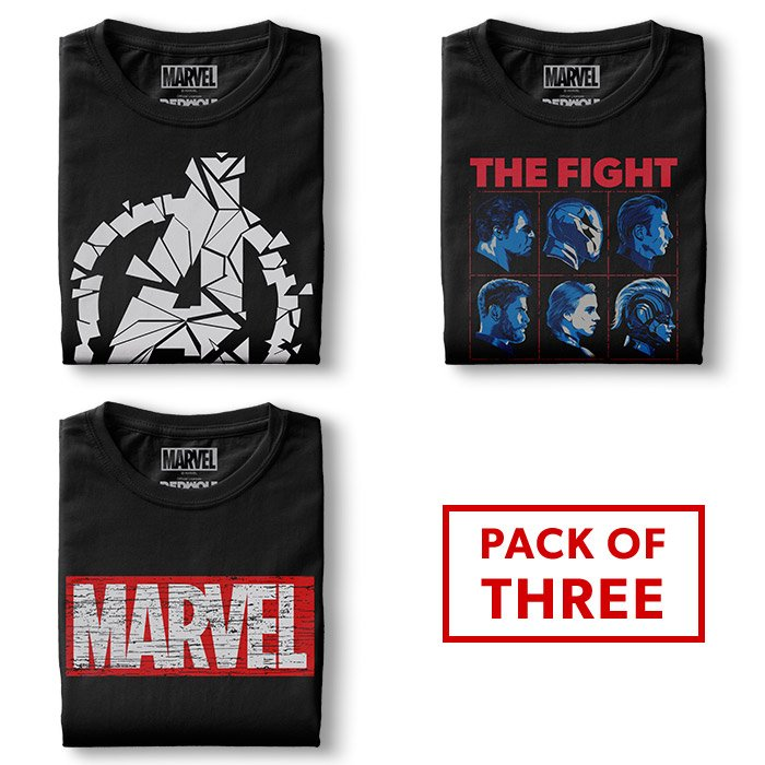 Pack Of Three: The Ultimate Marvel Fan Combo