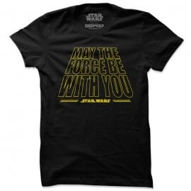 May The Force Be With You - Star Wars Official T-shirt