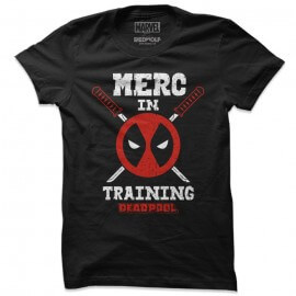 Merc In Training - Marvel Official T-shirt