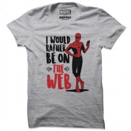 Rather Be On The Web - Marvel Official T-shirt