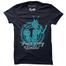Peace Among Worlds - Rick And Morty Official T-shirt