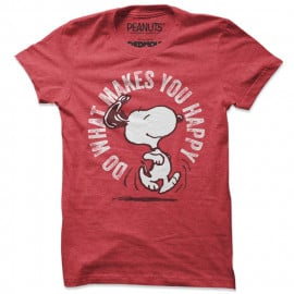 Do What Makes You Happy - Peanuts Official T-shirt