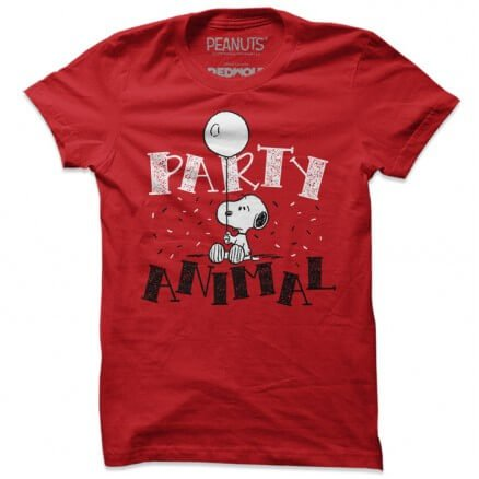 Party Animal - Peanuts Official T-shirt