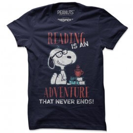 Reading Is An Adventure  - Peanuts Official T-shirt