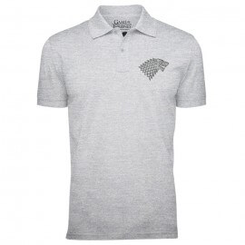 House Stark Sigil (Pocket Print) [Pre-order - Ships on 23rd May 2019] - Game Of Thrones Official Polo T-shirt