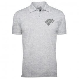 House Stark Sigil (Pocket Print) - Game Of Thrones Official Polo T-shirt