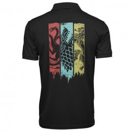 Sigil Banner - Game Of Thrones Official Polo T-shirt